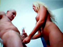 blonde amateur homemade big tits handjob tight cumshot european blowjob