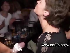 Drunk wild mothers sucking huge strippers cocks in a public night club  Sensational secret movie 