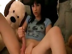 shemale ladyboy tranny teen solo cumshot