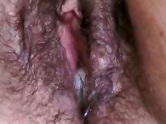 brunette blowjob handjob big tits fingering big ass close up creampie cumshot couple wife ass hairy amateur homemade chubby bbw