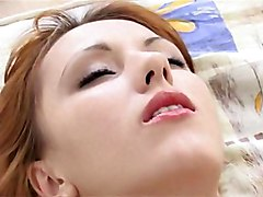 redhead  russian  white  skinny  panties  small tits  blowjob  bed