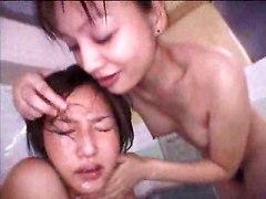 Lesbian Sex In Bathroom