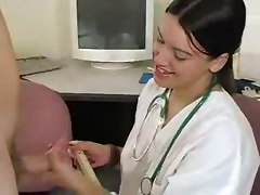 Female Doctor Measures His Stick