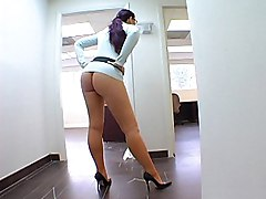 brunette  tease  sexy  big ass  panties off  in clothes  expose  no sex Caroline Pierce