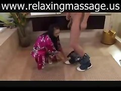 Lesbian asian girls oil massage