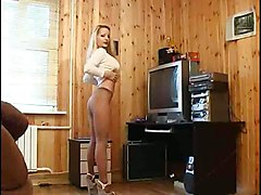 big tits blonde stockings teasing blowjob handjob doggystyle cumshot fetish european russian