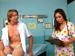 hardcore blowjob Asian nurse
