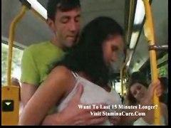cumshot hardcore blowjob brunette bigtits pussyfucking public bus exhibitionist