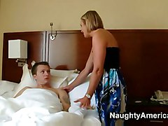 blonde hot sexy milf mature mom friend bedroom the her fucks younger suz