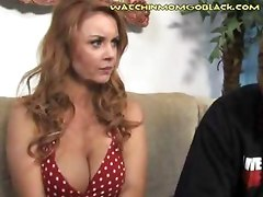 Sitting face to face with his mother who is on all fours and moaning and panting like a dog in heat while a black man with a gigantic cock fuck her hard fast and deep