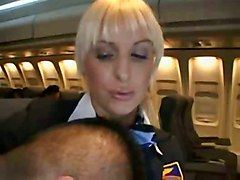 Airhostess Giving Blowjob To Passenger