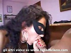 Italian Cute Amateur Threesome