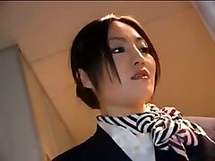 asian japanese handjob airplane stewardess