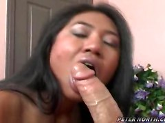 blowjob Asian cum swallowing