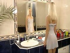 blonde lingerie ass skinny panties pussylicking blowjob handjob riding cumshot facial small tits teen teasing reality european
