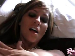 Raven Riley Playing With A Toy In Bed