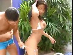 anal latina outdoor bikini pool pussylicking pussyfucking