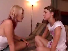 Girly Thoughts  Scene 4 young amateur 18 yo teen daughter in hot lesbian scene with friend