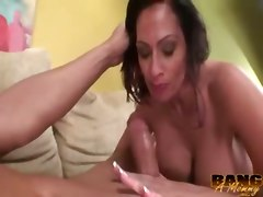 mature brunette huge tits tattoo heels dirty talk