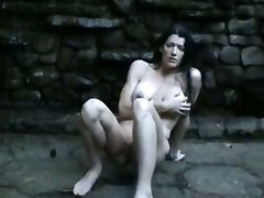amateur homemade squirting big tits tight teasing brunette milf outdoor masturbation solo wet