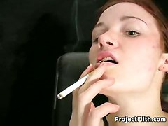smoking fetish bizarre pierced kinky freak