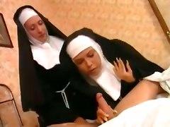 fetish nuns french anal blowjob cumface hardcore