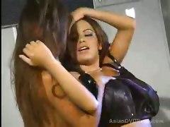 Black Latex Asian Lesbians