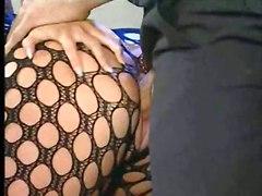 stockings latina brunette