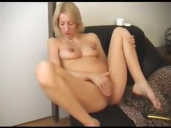 pregnant preggo solo toys dildo blonde masturbation