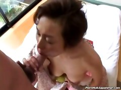 asian japanese brunette busty masturbation