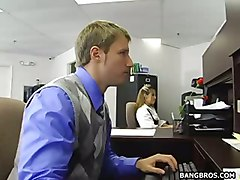 stockings cumshot facial hardcore upskirt clothed pussyfucking office