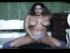oiled brunette bigtits masturbation solo sextoys