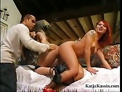 ass threesome lesbian fishnet stockings big tits piercing brunette teen masturbation lesbian ass licking blowjob handjob pussylicking riding