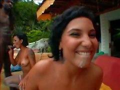 Brazilian Sisters Patricia SaraHardcore Interracial Ebony Latinas