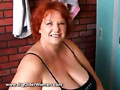 Bbw Mature Ginger Masturbation Dildo Huge Tits Busty Boobs Solo Solo Mature BBW Redhead