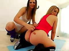 lesbian asslicking gym