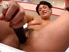 dildo milf brunette solo british lube lubed slippery