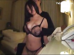 Asian Girl In Black Lingerie Getting Her Pussy Fingered Licked By Her Boyfriend