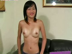 asshole dildo asian tranny cum