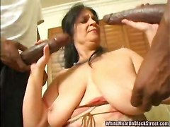 threesome interracial big cock doggy style hardcore blowjob