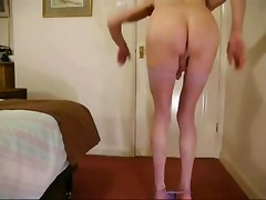 shemale tranny strips and cums