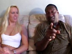 Hally Fucks Her First Black Dude