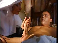 nun blowjob handjob dick sucking pussy uniform cunnilingus