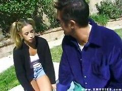 Teen Babysitter PigtailsTeens 18  Petite Storyline Public   Out Door