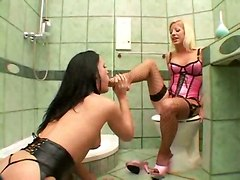 hardcore lesbian lingerie stockings slave bondage bathroom spanking strap on toys anal ass to mouth foot pussylicking fetish european german