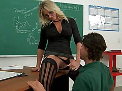 glasses  teacher  female teacher  class  stocking  black stockings  classroom  lick  spread legs  desk  in clothes  stylish  from behind  hardcore  fuck  fucking  at work  office Brittanie Lane  Seth Gamble