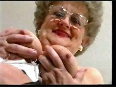 mature chubby stockings teasing masturbation solo rubbing hairy softcore granny