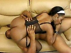 stockings cumshot black hardcore blowjob ebony blackwoman bigass pussyfucking