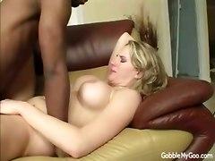 blonde busty interracial anal hardcore cumshot