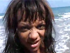 black ebony teasing beach outdoor skinny close up pussy cameltoe piercing brunette wet ass tattoo bikini amateur homemade solo